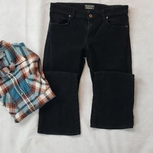 POLO JEANS CO black corduroy pants flap pocket  4